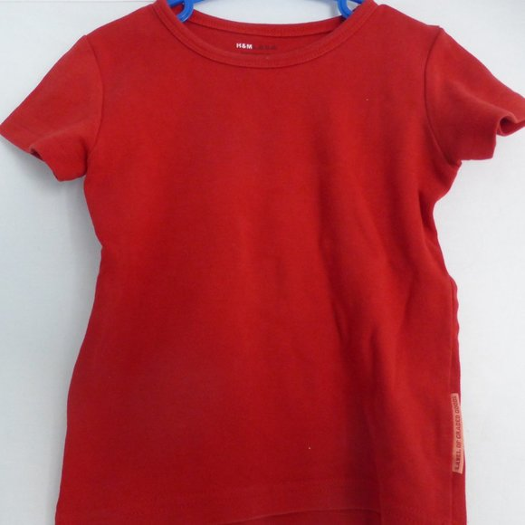 H&M, Toddler, 1.5 to 2 years, plain red tee, BNWOT